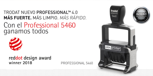 Trodat Profesional 5460 recibe el Red Dot Award